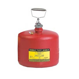 Eagle Type I Poly Safety Can - 3 Gallons - Red, 1537