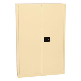 "Eagle Office Supply Cabinet 1947-4BE 43""W x 18""D x 65""H with Manual Close - Beige"