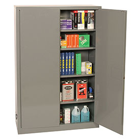 Eagle Office Supply Cabinet with Manual Close Gray by