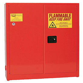 Eagle Paint/Ink Safety Cabinet with Manual Close - 24 Gallon Red