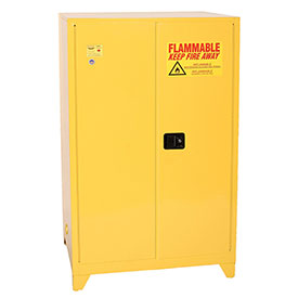 Eagle Flammable Liquid Tower™ Safety Cabinet with Self Close - 90 Gallon