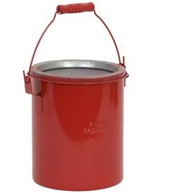 Eagle Bench Can - Metal - Red - 6 qt., B-606