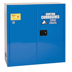 Eagle Acid & Corrosive Cabinet with Sliding Self Close - 30 Gallon