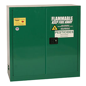Eagle Pesticide Safety Cabinet with Manual Close - 30 Gallon