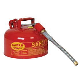 "Eagle Type II Safety Can with 7/8"" Spout - 2 Gallons - Red, U2-26-S"