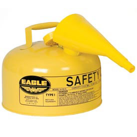Eagle Type I Safety Can - 2 Gallon with Funnel - Yellow, UI-20-FSY