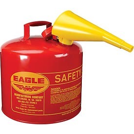Eagle Type I Safety Can - 5 Gallon with Funnel - Red, UI-50-FS