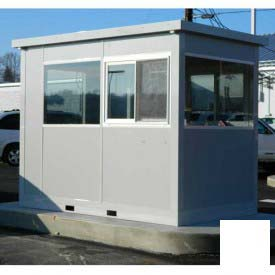 Ebtech Pre-Assembled Security Builidng W/Swing Door, 6'W X 10'D, Intregral Roof, 4 Wall, White