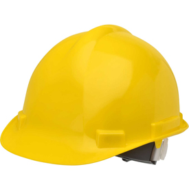 Elvex VOLT Hardhat W/4 Pt. Ratchet Suspension, Yellow,WELSC1004RY by