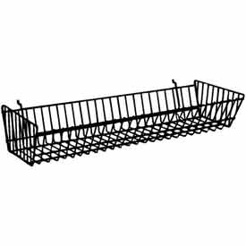 "24""W X 10""D X 5""H Double Sloping Basket - Semi-Gloss Epoxy Chrome - Pkg Qty 6"