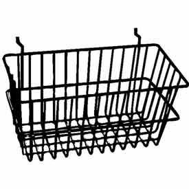 "12""W X 6""D X 6""H Narrow Basket - Semi-Gloss Black - Pkg Qty 6"