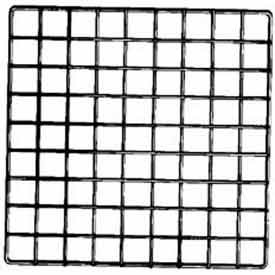 "14""L X 14""W Epoxy Coated Grid Cubbies - White - Pkg Qty 48"
