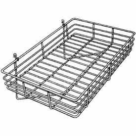 "24""W X 15""D X 4-1/2""H Basket - Chrome - Pkg Qty 4"