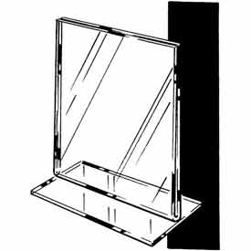 """7""""W X 11""""H Acrylic Sign Holder Top Load Counter Top - Clear - Pkg Qty 24"""