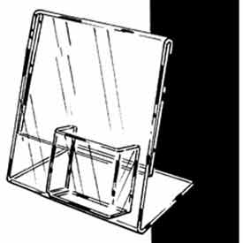 """8-1/2""""W X 11""""H Acrylic Sign Holder Slantback W/ 4"""" Pocket For Counter Top - Clear - Pkg Qty 6"""