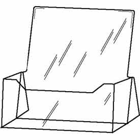 """8-1/2""""W X 11""""H Acrylic  Countertop Literature Holder - Clear - Pkg Qty 12"""