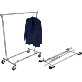Collapsible Garment Rack (RCW/4)- Square Tubing - Chrome