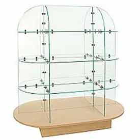 Glass Merchandiser with Oval base -
