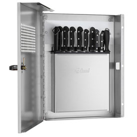 Edlund KLC 994, Locking Knife Cabinet with Integrated KR-699 Knife Rack, Stainless Steel by