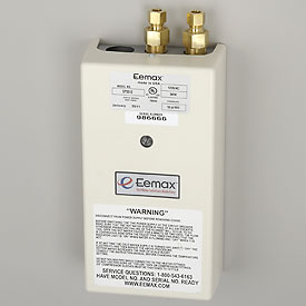 Eemax SP3012 Electric Tankless Water Heater, Single Point Of Use - 3.0KW 120V 25A