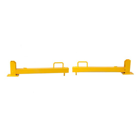 "Folding Dock Door Guard, Protects Door Tracks & Pallets/Fork Lifts, 36""L Arm, Yellow"