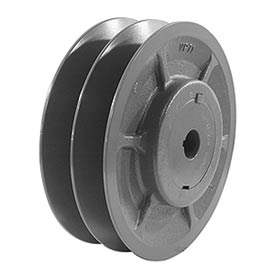 "Double-Groove Variable Pitch Sheave, 7/8"" Bore, 5.35"" O. D., 2VP56X7/8"