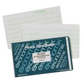 "Ekonomik Check Register Book, 18 Columns, 14-3/4"" x 8-3/4"", White, 1 Each by"