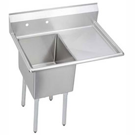 "Elkay E1C24X24-R-24X NSF Sink, 1-Compartment w/24""L x 24""W Bowl, 12"" Deep, (1) 24"" Right Drainboard"