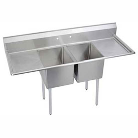"Elkay E2C24X24-2-24X NSF Sink, 2-Compartment w/24""L x 24""W Bowl, 12"" Deep,... by"