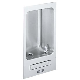Elkay Fully Recessed Water Fountain, Stainless Steel, Wall Hung, EDFB12C