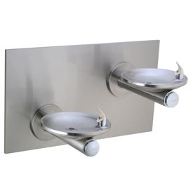 Elkay Swirlflo ADA Drinking Fountain, Stainless Steel, Access Panel, 2 Station, EDFPBM117RAC