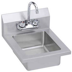 Elkay EHS14X Wall Economy Hand Sink w/ 10x14x5-in Bowl & Faucet by