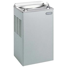 Elkay Deluxe Wall Mount Water Cooler, Stainless Steel, Wall Hung, 115V, 60Hz, 3.3 Amps, EWA4S1Z