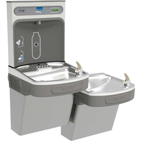 Elkay EZSTL8WSLK EZH20 Bi-Level Unfiltered Water Bottle Filling Station, 8 GPH, Light Gray