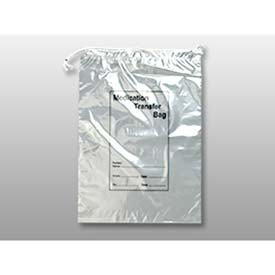 "Drawstring Reclosable 2-Wall Specimen Transfer Bag, 2 mil, 10"" x 14"", Pkg Qty 1000"