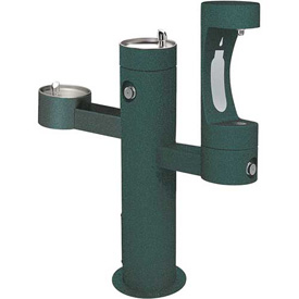 Elkay LK4430BF1L, Tri-Level Outdoor Pedestal Fountain, Lower Water Refilling Station