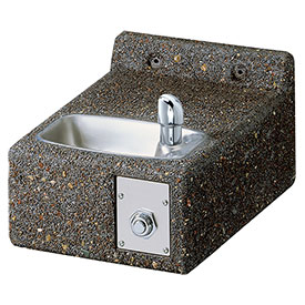 Elkay Stone Outdoor Drinking Fountain, Lk4593