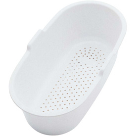"Click here to buy Elkay, SC1407W, Colander Polymer, Fits Bowl Size: 7"" X 14-1/8""."