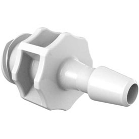 """Eldon James Large Bore Female Luer with 3/16"""" Barb, CrystalVu™ Antimicrobial"""