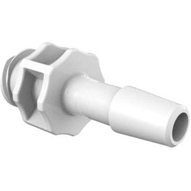 "Eldon James Large Bore Female Luer with 1/4"" Barb, Polypropylene Antimicrobial"