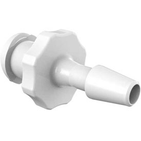 "Eldon James Female Luer with 1/8"" Barb, Polypropylene Antimicrobial"