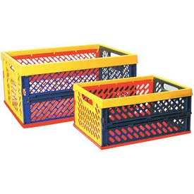 "ECR4Kids® Large Ventilated Collapsible Crate, 19""L x 13-1/2""W x 9-1/4""H, Priced Each - Pkg Qty 12"