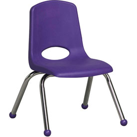 "ECR4Kids Classroom Stack Chair - 12"" - Purple - Pkg Qty 6"