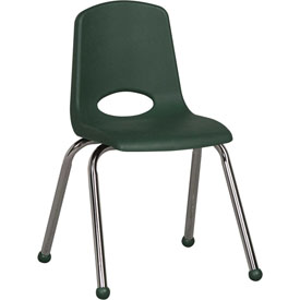 "ECR4Kids Classroom Stack Chair - 16"" - Hunter Green - Pkg Qty 6"