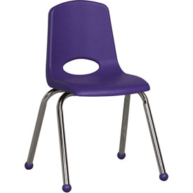 "ECR4Kids Classroom Stack Chair - 16"" - Purple - Pkg Qty 6"