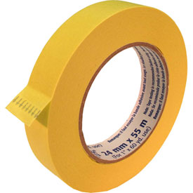 "Ecr4kids® Yellow Masking Tape Roll - 1""W, 1 Roll, Priced Ea, Sold 120/PK - Pkg Qty 120"