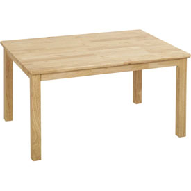 "ECR4Kids® 24"" x 36"" Rectangular Hardwood Table - 18"" Legs"