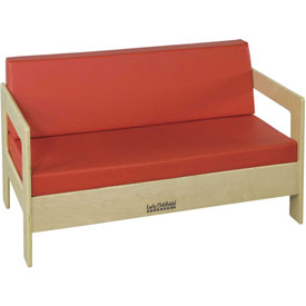 ECR4Kids® Living Room Set - Birch Sofa Red