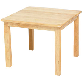 "24"" Square Hardwood Table (18"" Legs)"