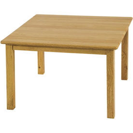 "30"" Square Hardwood Table (18"" Legs)"